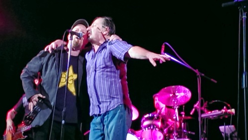 Southside Johnny and Jeff Kazee onstage